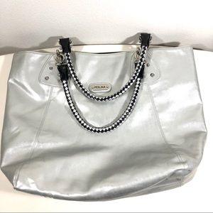 Perlina Reversible Tote Bag Black/Silver